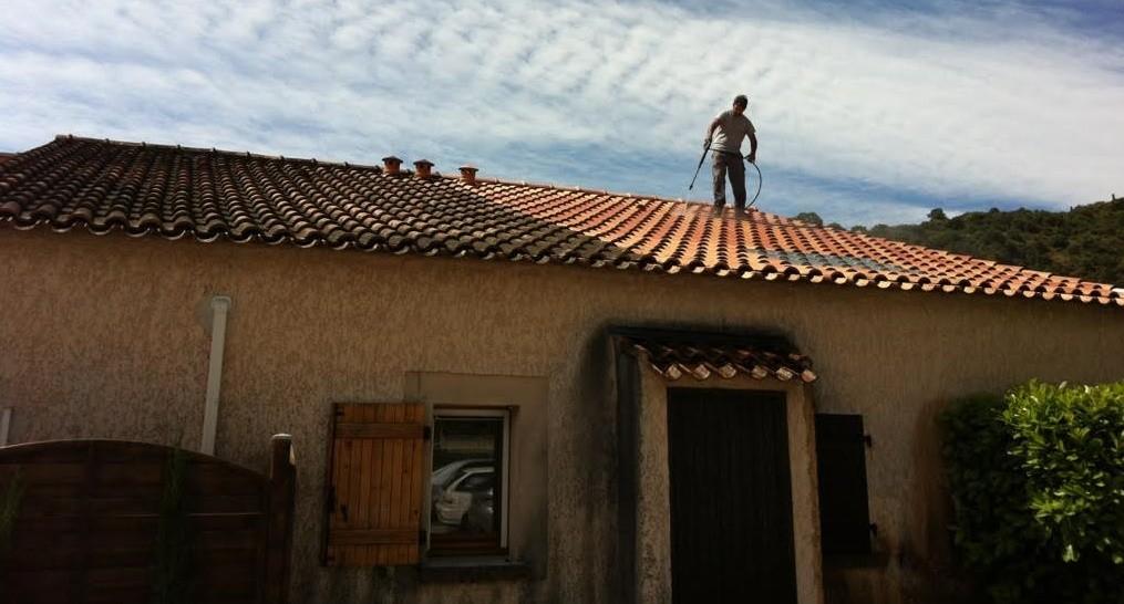 nettoyage demoussage de toiture